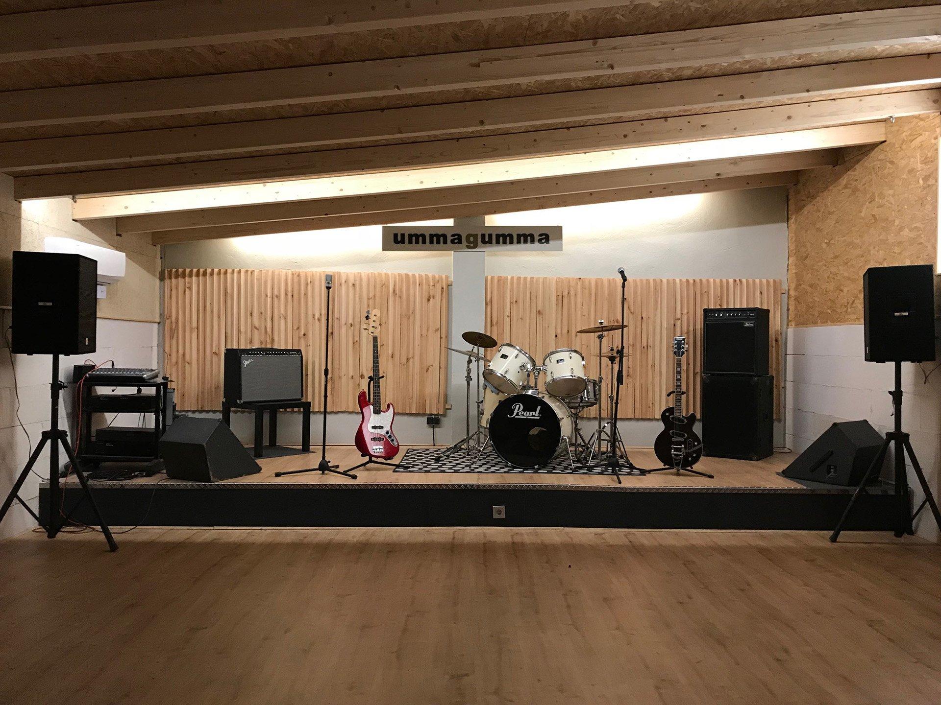 Sala nueva de Ummagumma club de ensayo